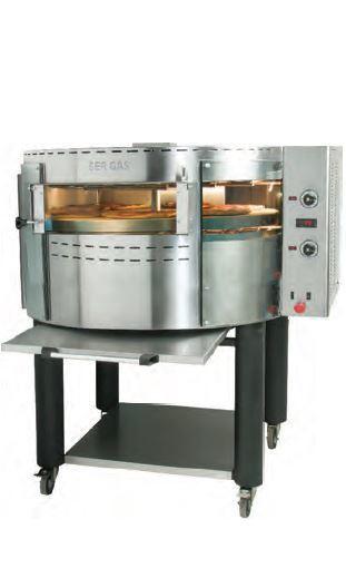 Ηλεκτρικός Περιστρεφόμενος Φούρνος Πίτσας RPE1 - 128x109x66cm / 01376 - Geniko Emporio Επαγγελματικός Εξοπλισμός Επιχειρήσεων Εστίασης και Ξενοδοχείων