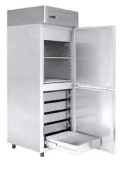 Ψυγείο Θάλαμος Ψαριών Συντήρησης με 2 Πόρτες 70 x 80 x 215cm Geniko Emporio Επαγγελματικός Εξοπλισμός Επιχειρήσεων Εστίασης και Ξενοδοχείων